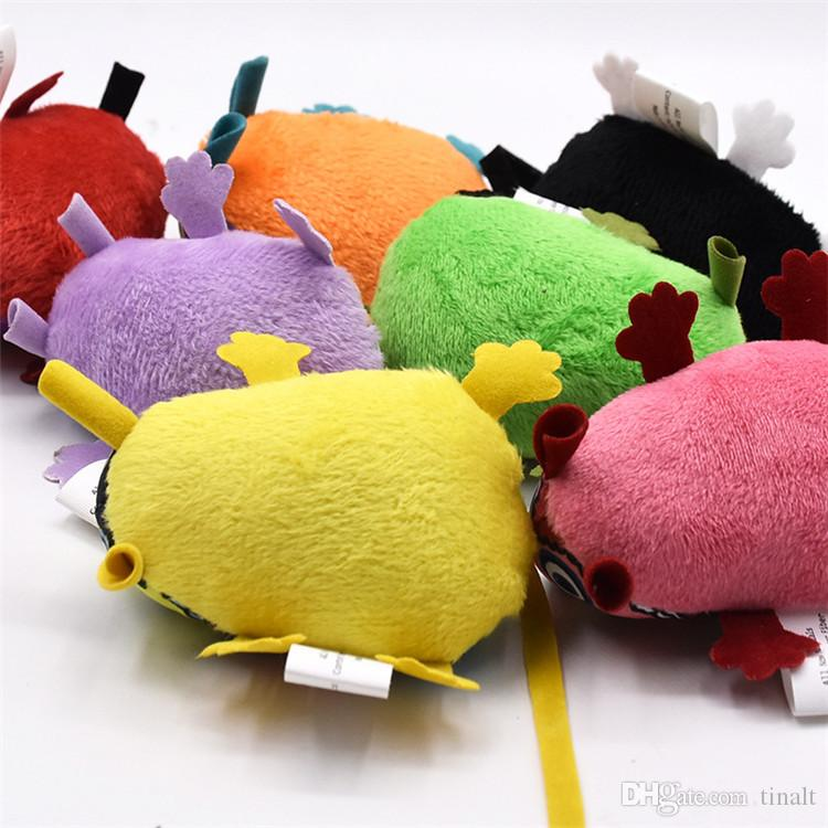 Hot sale high quality plush Cat toys Colorful Mouse shape Funny Toy Sounding Pet toys Supplies T3I0068