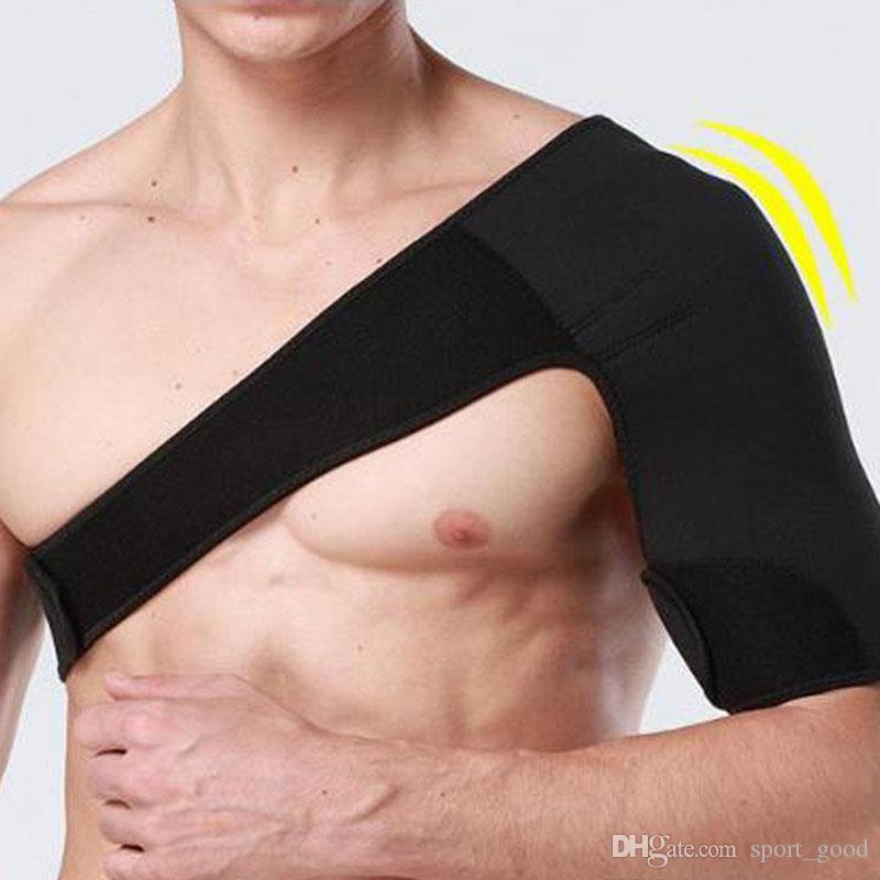 New Neoprene Sports ajustável Proteção Shoulder Brace Luxação Injury Arthritis dor no ombro Suporte Strap aptidão respirável Strap
