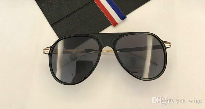 Unisex TB809 Black Gold Pilot Sunglasses TB 809 Dark Grey Lenses ... 93c35858fb1