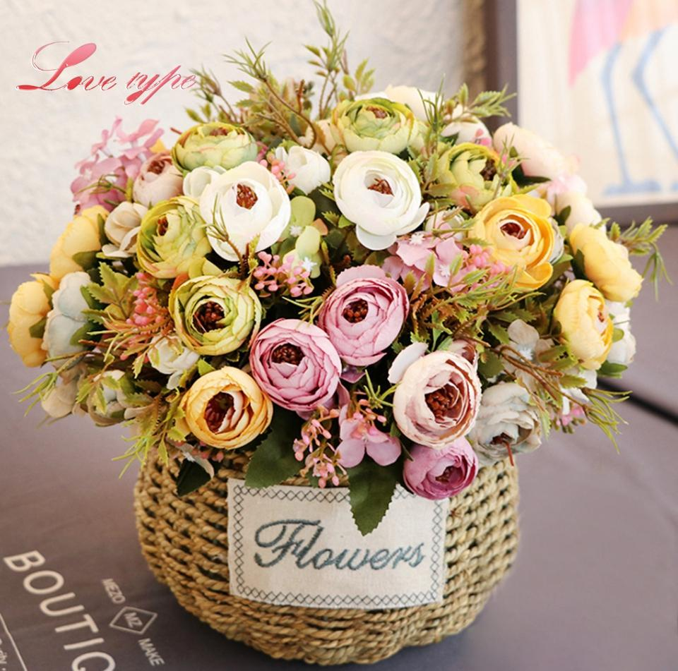 2018 Silk Flowers 1 Bunch Diy Artificial Silk Flower High Quality