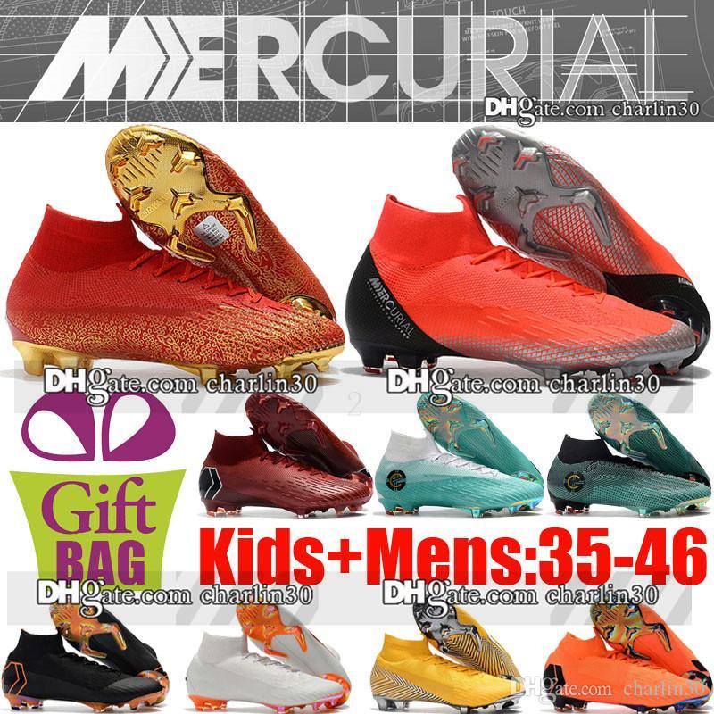 604ecc1a0e New Boys Scarpe da calcio Mercurial Superfly VI CR7 FG Scarpe da calcio ACC  per bambini Cristiano Ronaldo Women Mens Mercurial Scarpe da calcio Neymar  ...