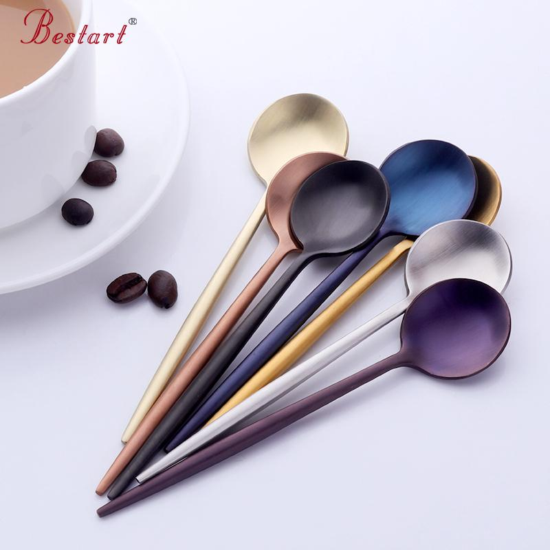 2018 Korean Style Colorful Small Tea Spoon Dinnerware Set 18/10 Stainless Steel Mini Coffee Spoons Set Korean Tableware Scoops From Glass_smoke ... & 2018 Korean Style Colorful Small Tea Spoon Dinnerware Set 18/10 ...
