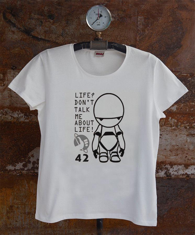 bdbc607d5 Hitchhiker's guide to the galaxy * Don't Panic Men's T-shirt 2018 summer  new men cotton Short sleeve T-shirt custom printed tshirt