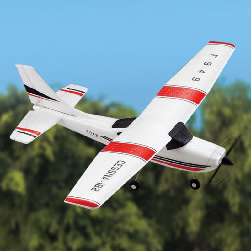 F949 Cessna 182 2 4G 3CH Aircraft Fixed-wing Drone Plane RTF RC Toys  Airplane Quadcopter Outdoor helicoptero toys for kid