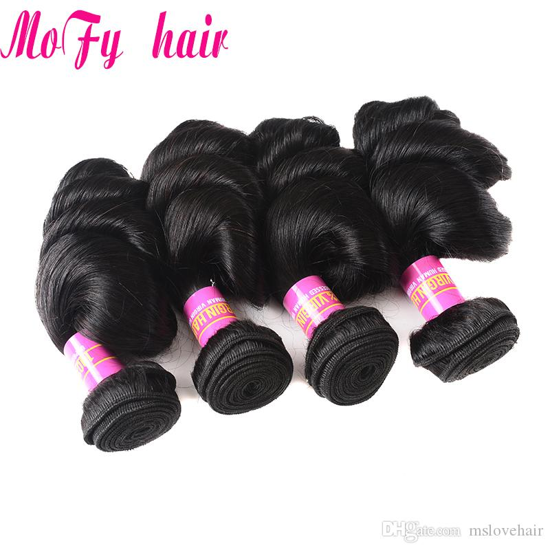 "Loose Wave Free Combination 10""~30'' Brazilian Virgin Hair Nature Color Mofy Hair Product 100% Human Hair Extension Cheap Peruvian Weave"