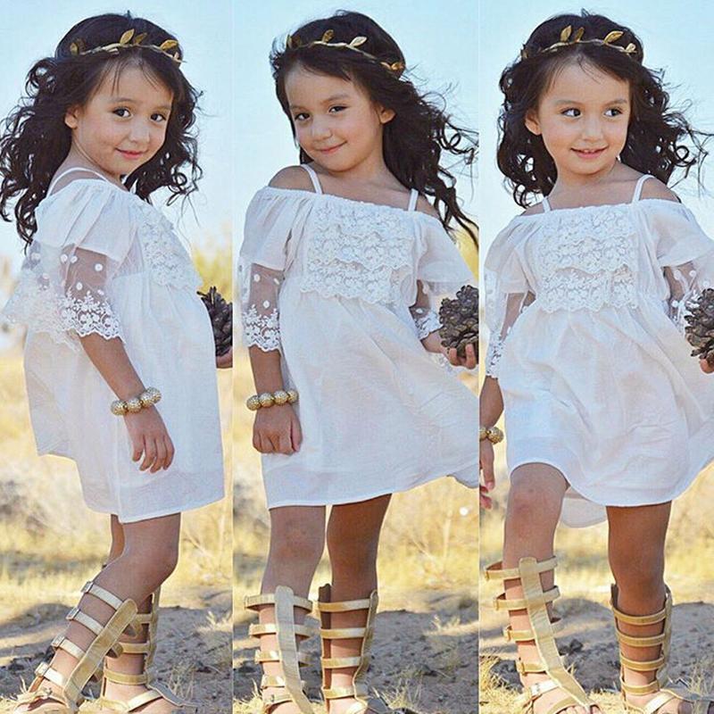 dc66c82f Baby Girls Lace Strapless Dress Children Suspender Princess Dresses ...