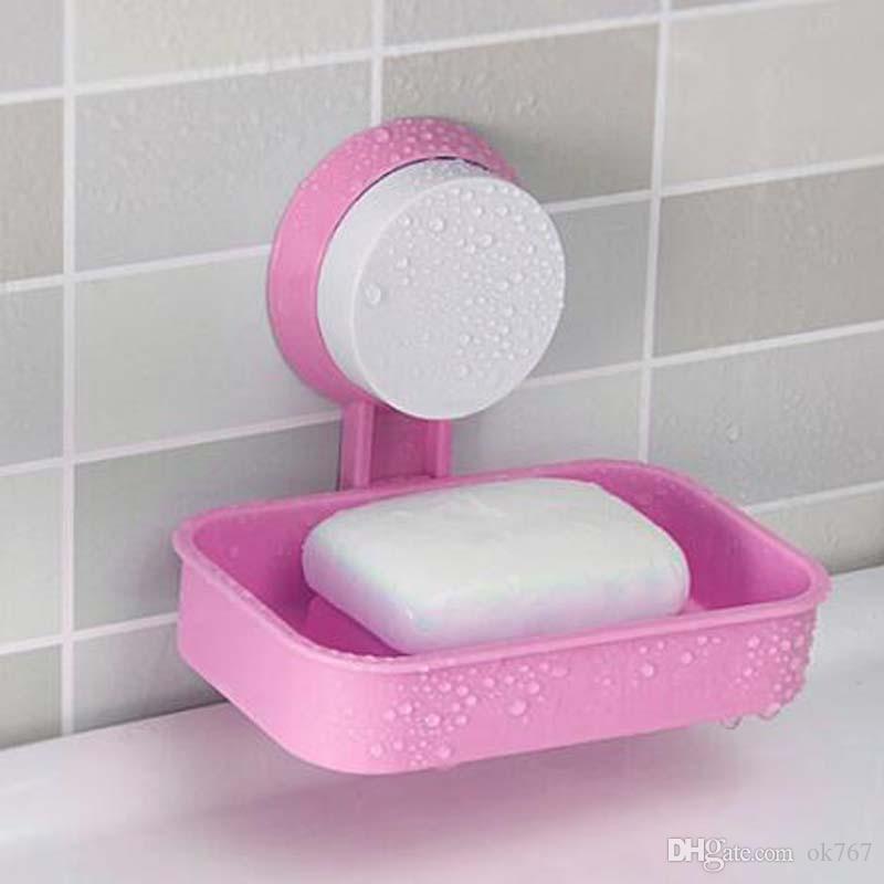 Güçlü Sabunluk Tutucu Vantuz Duvar Tepsisi Tutucu Sabun Saklama Kutusu Banyo Duş Aracı Için Mükemmel Ev Dekorasyon
