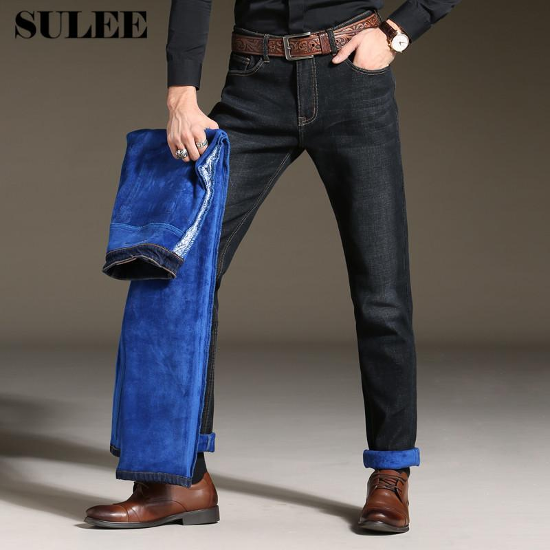16918c79 2019 SULEE Brand Winter Mens Plus Size Stretch Thicken Jeans Warm Fleece  Flannel Lined Quality Denim Jean Pants Trousers From Buxue, $39.62 |  DHgate.Com