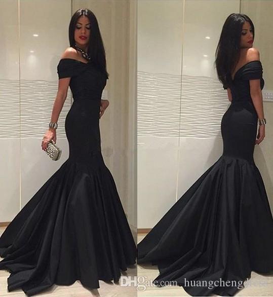 Yeni Moda Seksi Siyah Mermaid Abiye Uzun 2019 Zarif V Boyun Balo Parti Kıyafeti Örgün Elbiseler Robe de soire