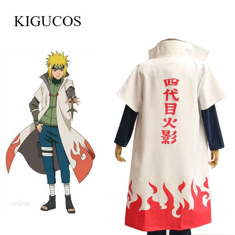 Compre Hot Anime Naruto Cosplay Disfraces Cuarta Hokage Namikaze Minato Cape  Outfit Cosplay Cloak A  32.23 Del Maoku  ce564232d8b