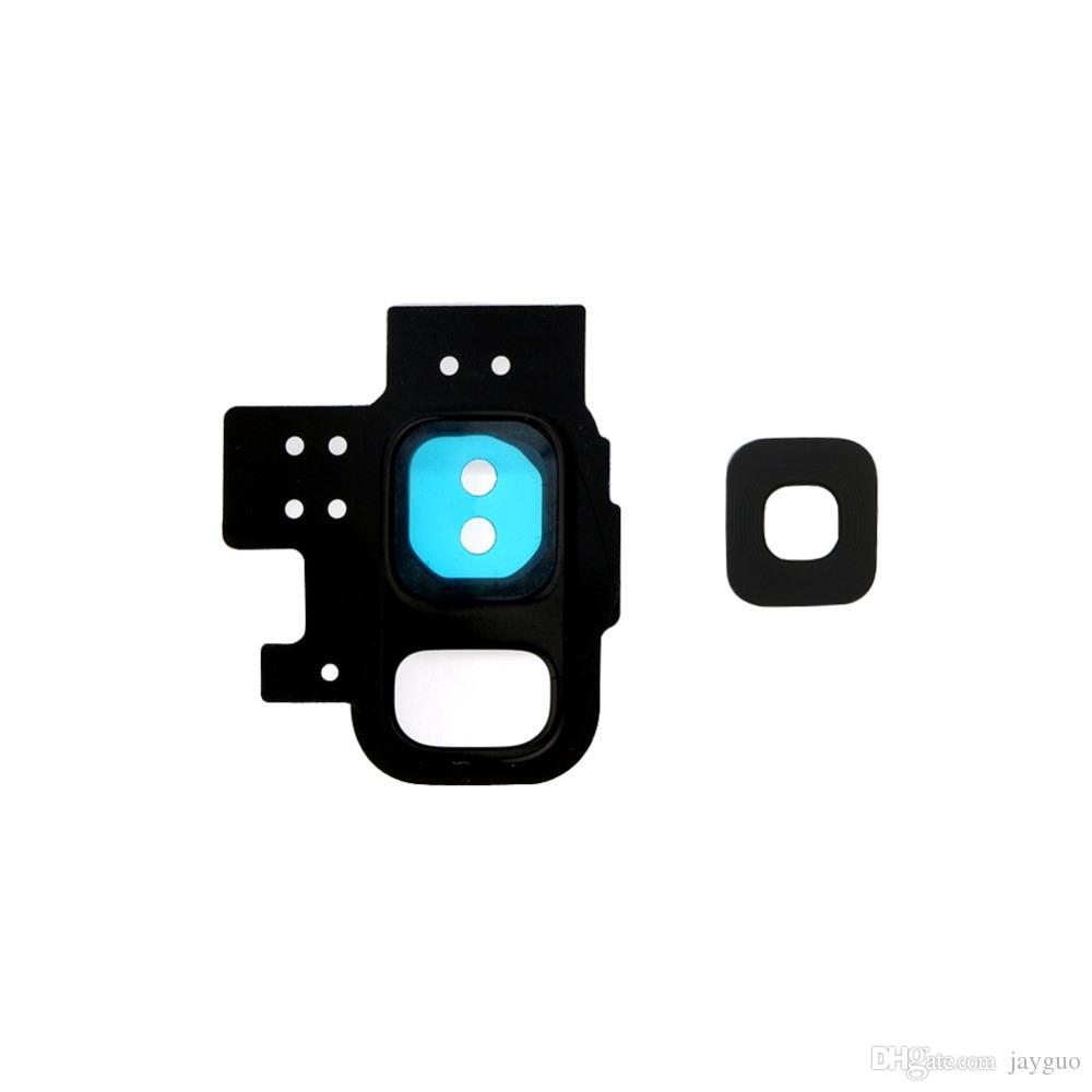 New Rear Back Camera Lens Glass Cover Ring with Adhesive Sticker Tape For Samsung Galaxy S9 + S9 Plus Replacement Parts