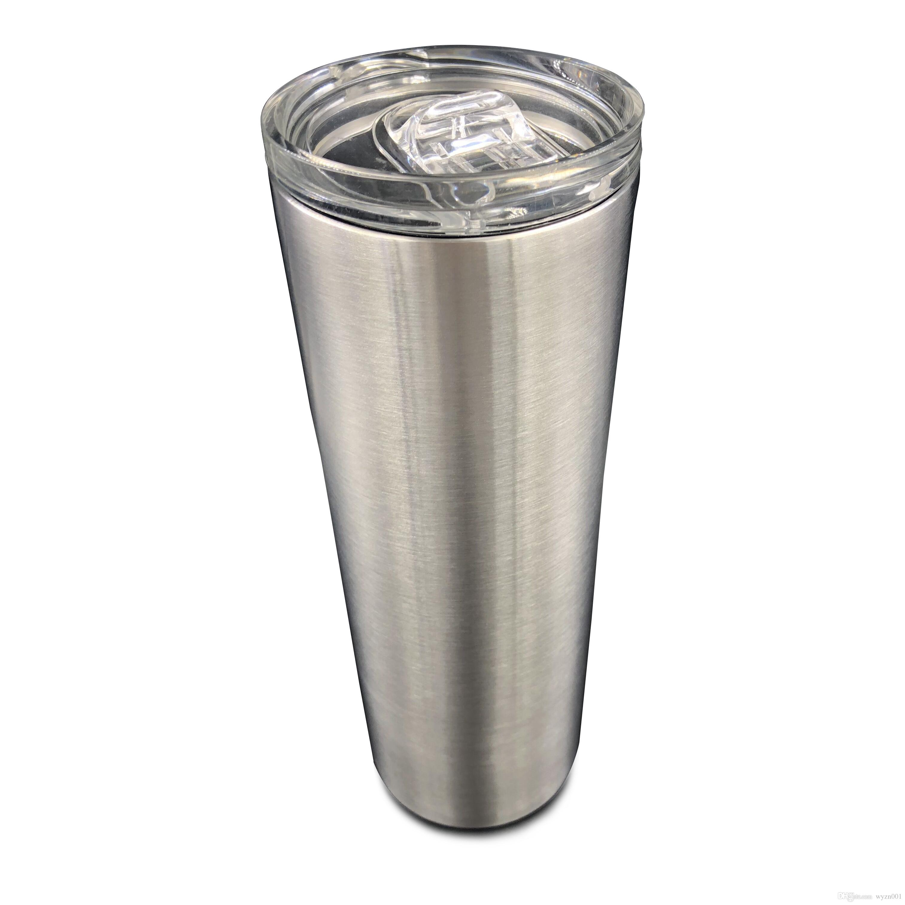 2a14bd005a0 20OZ BPA Free Stainless Steel SkinnyTumbler Cups Double Walled Vacuum  Insulated Tumbler Mugs With Lid And Straw Sets Of Coffee Mugs Shop Coffee  Mugs From ...