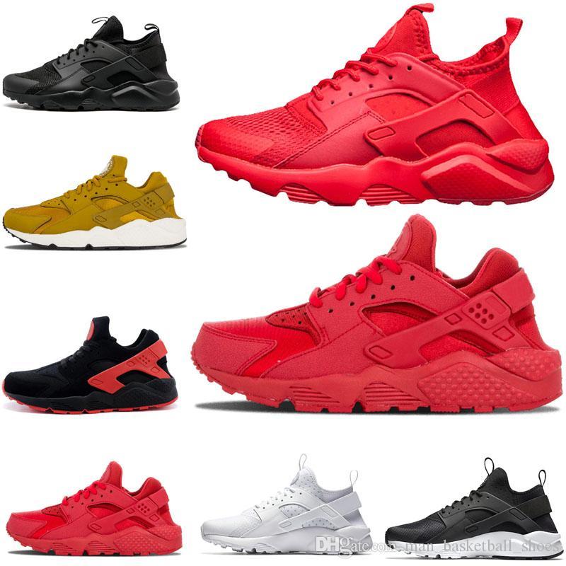 huge selection of 8b73d 21272 Großhandel Nike Air Huarache Shoes 2018 Neue Huarache 1.0 4.0 Laufschuhe  Rainbow Ultra Breathe Schuhe Männer Frauen Huaraches Multicolor Sneakers  Größe 36 ...