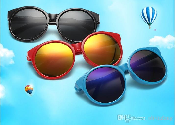 844e9c0adcd Luxury Fashion Sunglasses For Boys Girls Eyebrow Sun Glasses Kids UV ...