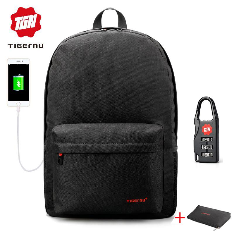 7e2b15add9 Tigernu gioventù piccola mini zaino scuola borsa per ragazze donne maschio  USB Laptop bagpack zaino scuola per adolescenti ragazze ragazzi Y1890401