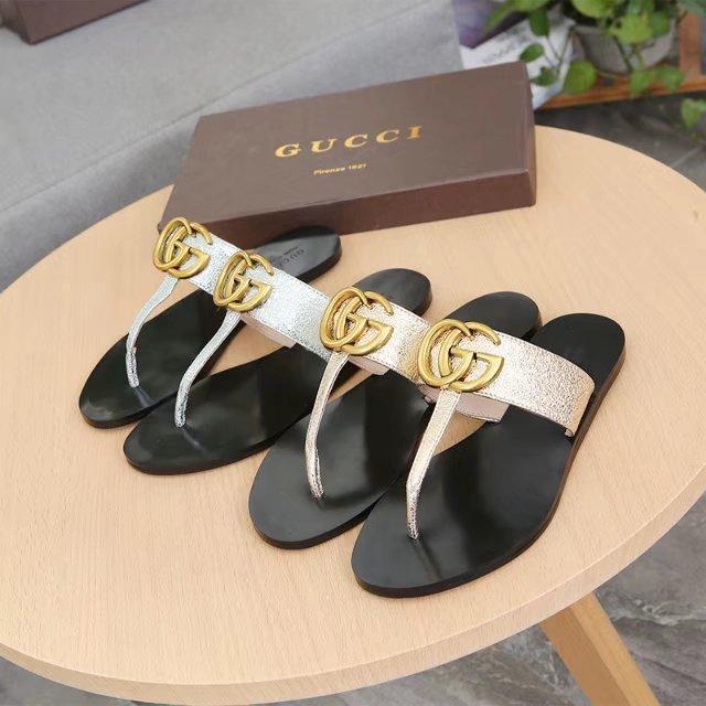 c19414fcd Top Quality Luxury Men Women Letter Metal Buckle Couples Shoes Flip ...