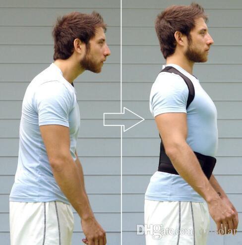 Men&women Adjustable Magnetic Posture body Support Corrector correction Shoulder Back Support Belt 6 magnets