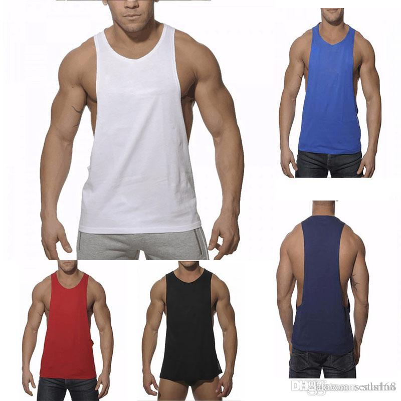 e504cf4678b49 Men Vest Fitness Gym Tank Tops Stringer Bodybuilding Equipment Shirt ...