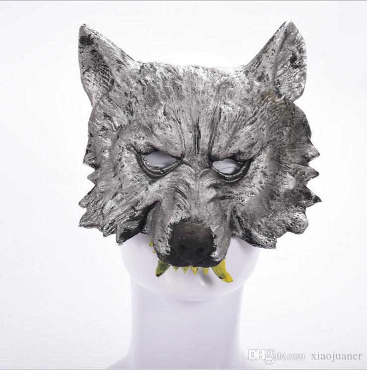 wholesale New Halloween Christmas Party Game Wolf Mask Masquerade Horror funny Party Masks Costume Ball Bar Decorations