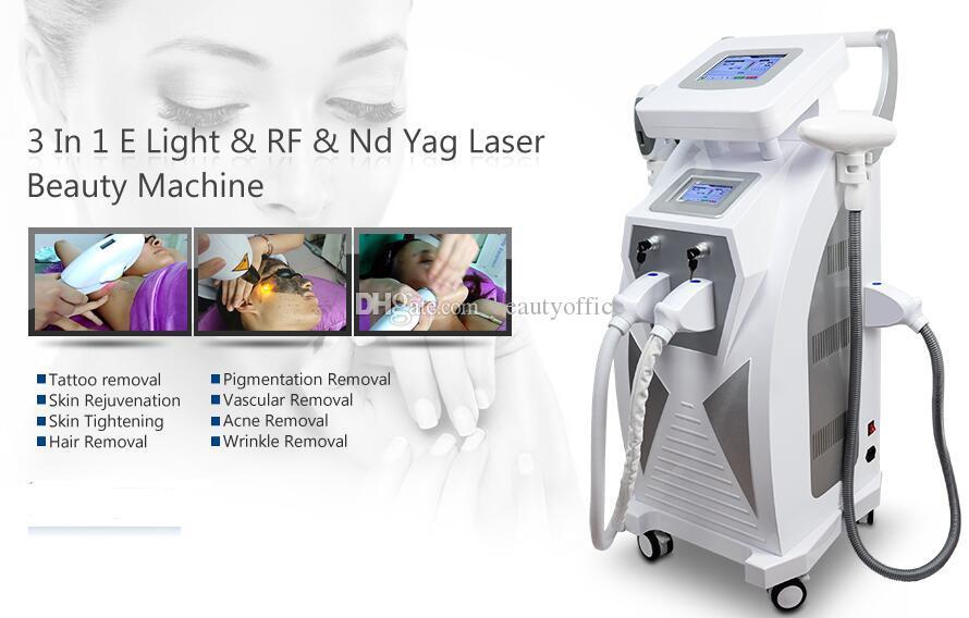 Remoção do pigmento da sobrancelha da remoção da tatuagem da máquina do laser do Nd Yag 2018 elevaço da cara multifacetaria estacionária do laser rf do ipl
