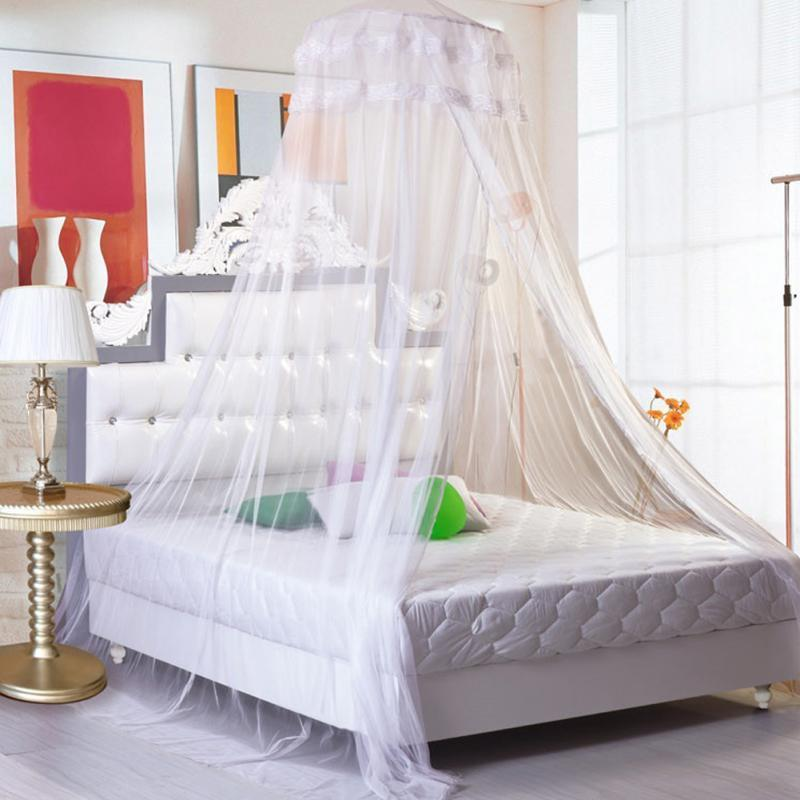 New Bed Mosquito Netting White Elegant Mesh Canopy Princess Round Dome Bedding Online with $22.81/Piece on Samanthaadam1820u0027s Store | DHgate.com : mesh canopy - memphite.com