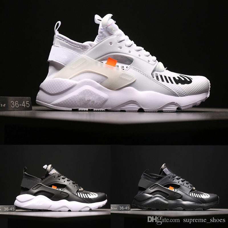 14182f44ab3 2019 2018 Running Shoes Huaraches Ultra 4 Men Women Black White Sport Shoes  Oregon AC.2017 Huarache Sneakers Size 36 44 From Supreme shoes