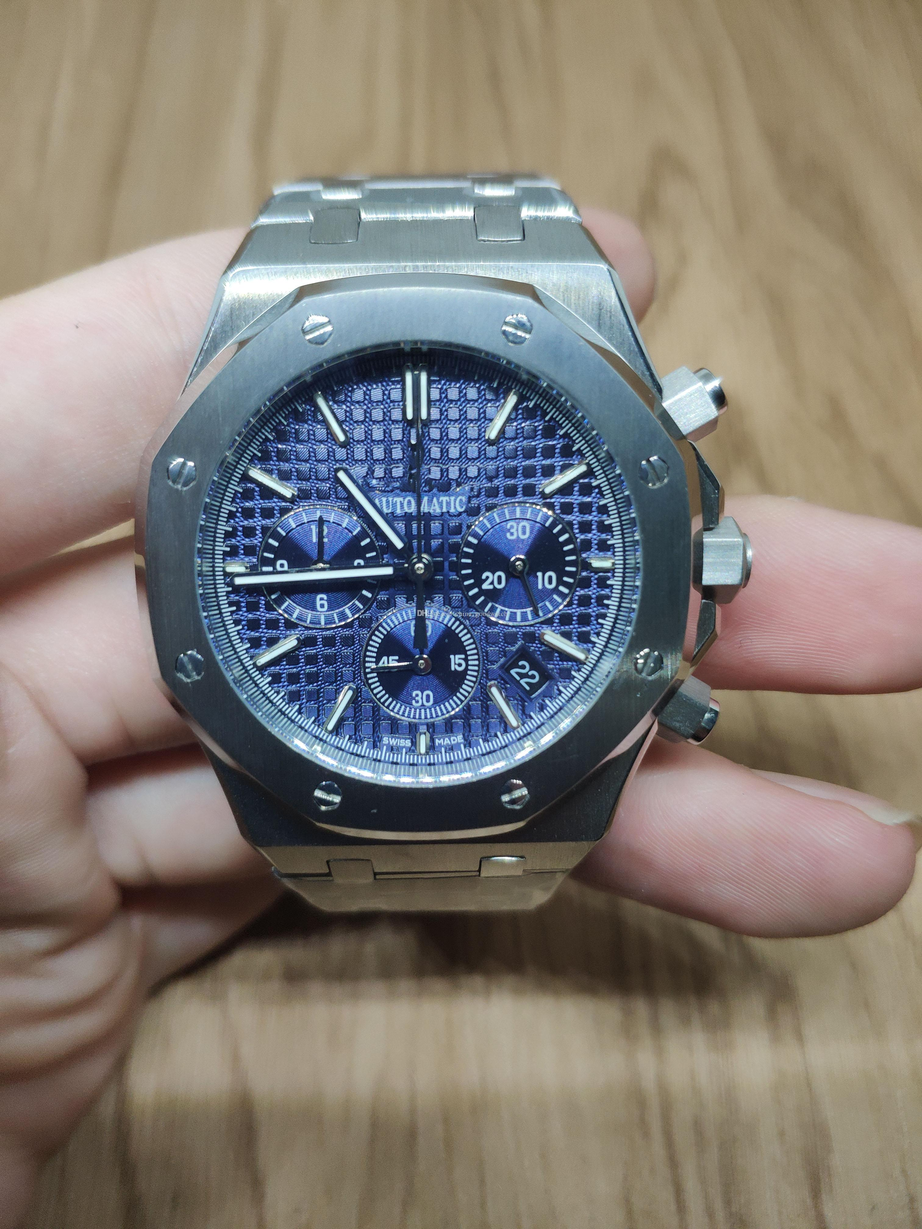 Compre AAA Reloj De Lujo Para Hombres 43 Mm Moda Clásico De Acero  Inoxidable Reloj De Cuarzo Multifuncional Correa De Acero Inoxidable Reloj  De Alta Calidad ... 9744ed143c30