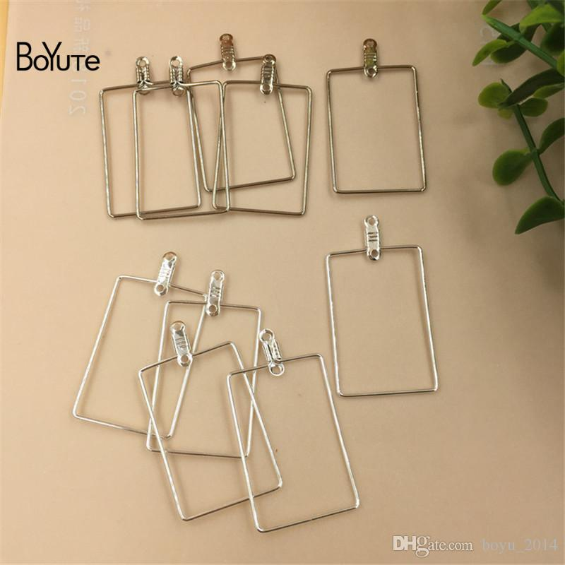 BoYuTe 20*30 MM Metal Steel Stainless Square Wire Accessories Earring Hoops for Jewelry Making