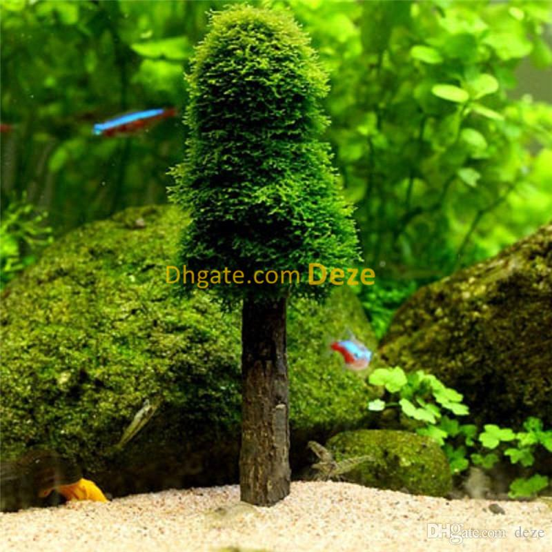 small diy aquarium decoration biological filte simulation moss ball holder christmas tree live plants grow fish tank decor aquarium decoration media moss - Christmas Aquarium Decorations
