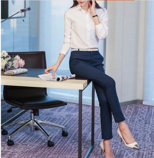 Mujeres pantalones de trabajo de oficina formal tallas grandes para mujer pantalones lápiz negro moda OL negro caqui pantalones Capri Z810