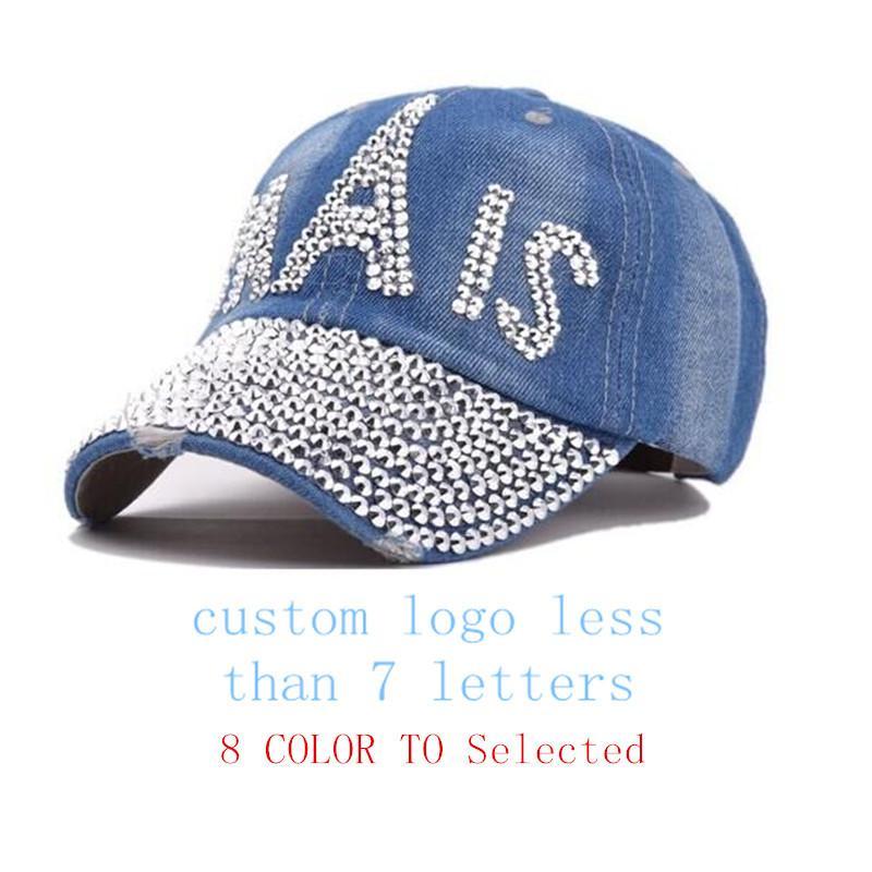 Factory OEM Custom Letter Paris Women Femal Rhinestone Bling Denim Baseball  Cap Snapback Hat Zephyr Hats Kids Hats From Amoywatches bd0f5a05ece2