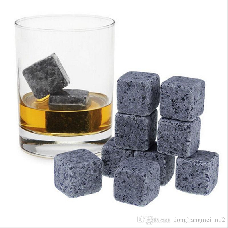 6 unids / set Natural Whisky Stones Sipping Ice Cube Piedra Whisky Rock Cooler Navidad Wedding Party Bar Drinking Accessories wn361
