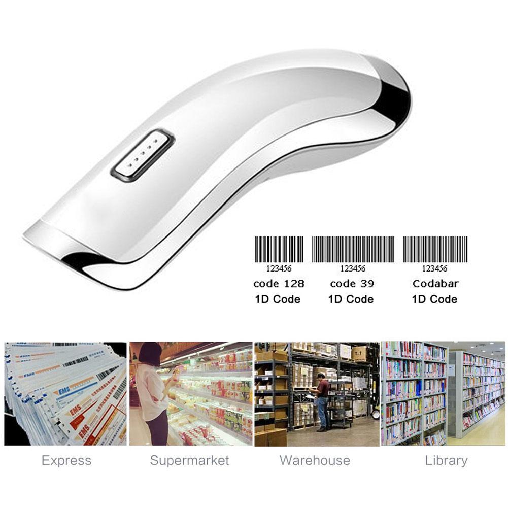 New High Speed 2 4G Wireless Barcode Scanner Handheld Scanning 1D Bar Code  Decoder SL@88