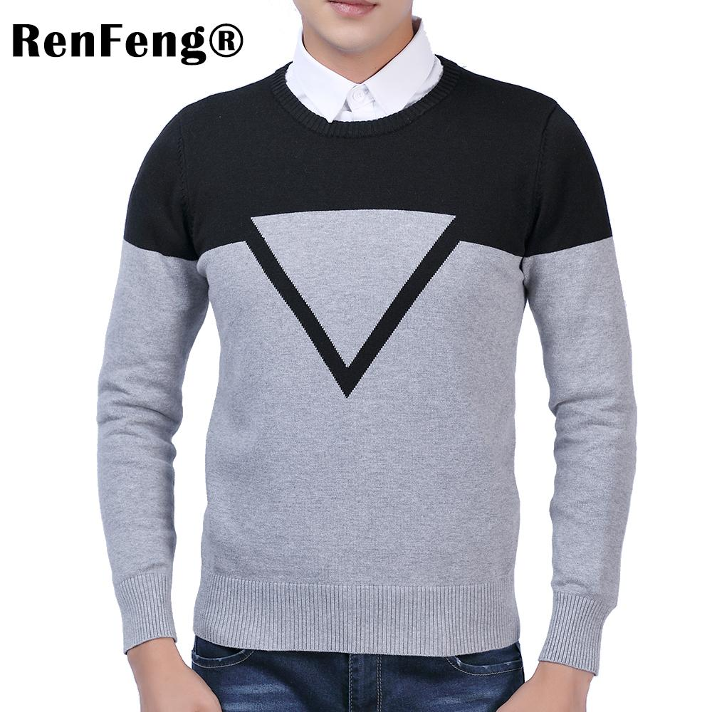 f75731904102d4 2019 New Design Patchwork Fashion Man Sweater Men Casual Cotton Fall Autumn Mens  Sweaters Keep Warm Winter Pull Homme From Macloth