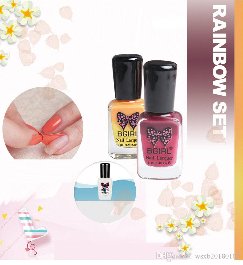 Changeable Nail Polish Wholesale Can Be Torn Green Non Toxic Water ...