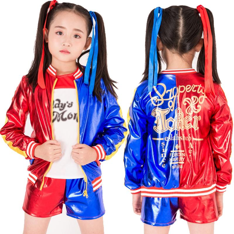 Lovely Kids Girls Suicide Squad Harley Quinn Coat Shorts Top Set Girls Clothing  Set Suicide Squad Children Cosplay Costumes Suit Cheap Costumes Fairy  Costumes From ...