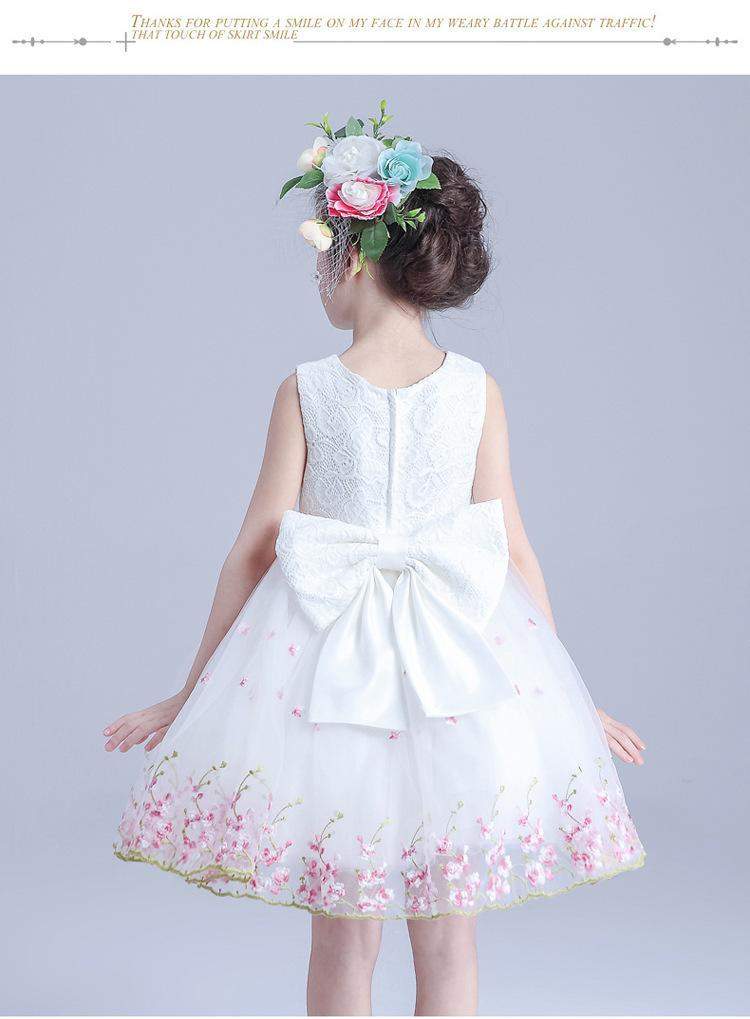 Nuevo vestido de las muchachas de la moda 2017 del verano ropa de los niños princesa vestido de fiesta de disfraces niños vestidos de boda para las niñas ropa