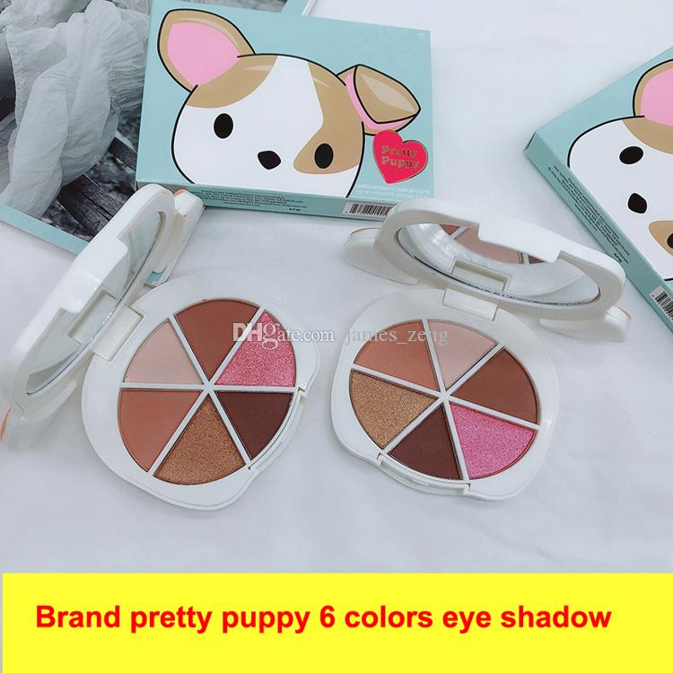 Newest Pretty Puppy Eye Shadow Sweet Peach Chocolate Gold Palette