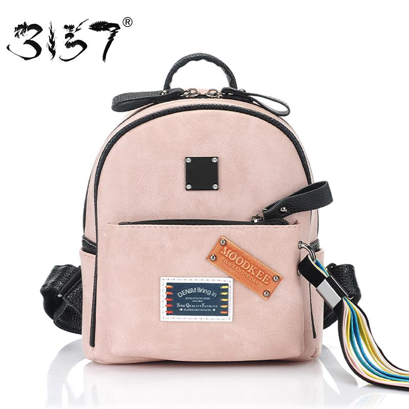 fa1cf8a04b Fashion Tassel Ribbon Women Bakcpack Small School Bag For Girls Appliques  Patchwork Mini Leather Backpack 3157 Sac A Dos Femme Tool Backpack Best  Laptop ...