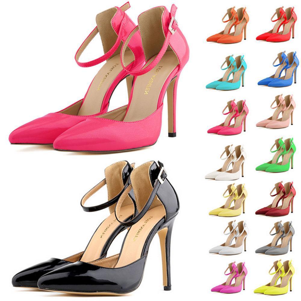 edda5e5524a6 Brand designer-Women Summer Shoes Party Wedding Sandals Shoes High Heels  Sandals Pointed Toe Less Platform Ladies Shoes US 4-11 D0239