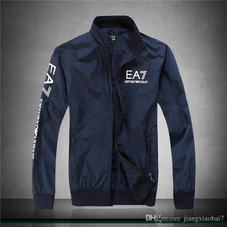 e497882724c87 Acquista Giacca Da Uomo Primavera Autunno Designer Jacket Giacca A Vento  Con Cappuccio Zipper Windbreak Donna E Uomo Brand New Simple Solid Half  Zippered ...