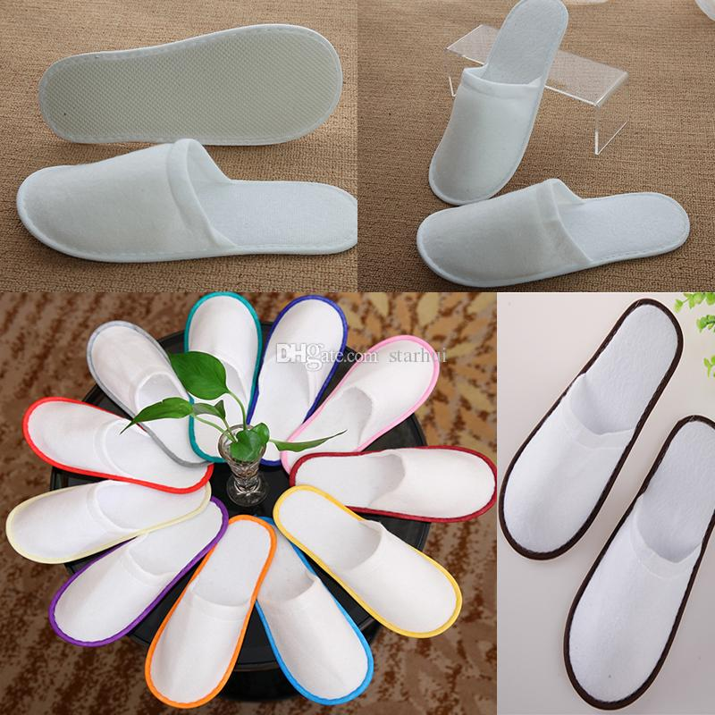 9f846a16e089 2019 Bath Disposable Slippers Hotel Towelling Slippers EVA Slipper Men  Women Flip Flop White Multi Color Indoor Cheap Slipper Free DHL WX9 441  From Starhui