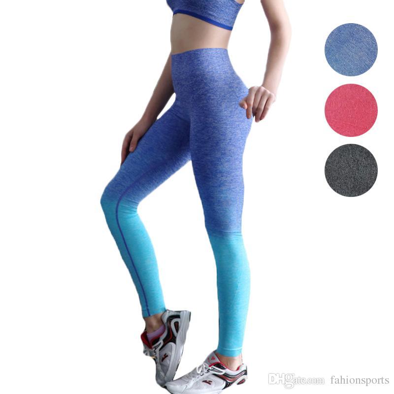 18167587034899 Women Yoga Pants Running Fitness Sport Elastic Tights High Waist ...