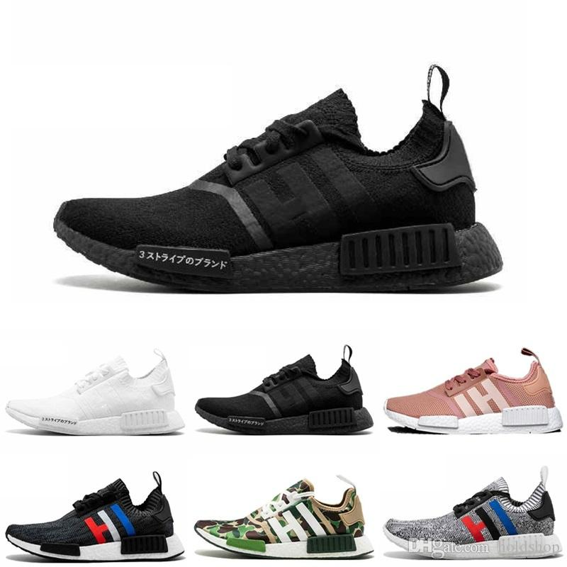 promo code 06790 21ba2 NMD XR1 PK Running Shoes Primeknit OG Japan Triple Black White Pink Blue  Men Women Sports Athletic Trainers Designer Sneakers Size 36-45