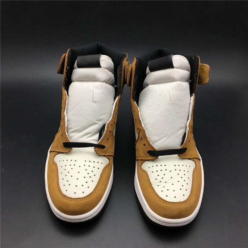 996088062442c8 Großhandel Neueste Release 1 High Og Rookie Des Jahres 1 S Gold Ernte  Schwarz Segel Basketball Schuhe Für Männer Aj1 Authentic Leder Turnschuhe  Mit Box Von ...