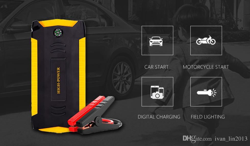 13600 mAh Démarrage Qualité 12 V Portable Mini Voiture Jump Starter Booster Puissance Banque Mobile Téléphone Portable Voiture D'urgence Auto Batterie Boost Chargeur