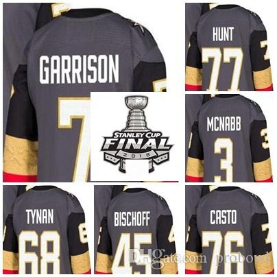 2b4ef5f8e 2019 2018 Stanley Cup Final Patch Jason Garrison Brad Hunt Brayden McNabb  76 Chris Casto 68 T.J. Tynan Jake Bischoff Hockey Jerseys Knights From  Probowl