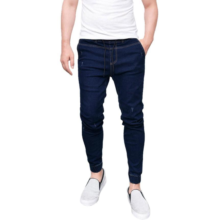 d47163e25879d 2019 New Fashion Mens Skinny Slim Fit Jeans Pants Hi Street Hip Hop Swag  Men Denim Casual Straight Pants Men Trousers P55X From Sincha