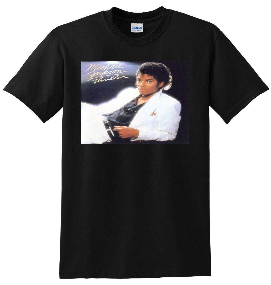 *NEW* MICHAEL JACKSON T SHIRT thriller vinyl cd cover SMALL MEDIUM LARGE or  XL Mens T Shirt Summer O Neck 100% Cotton