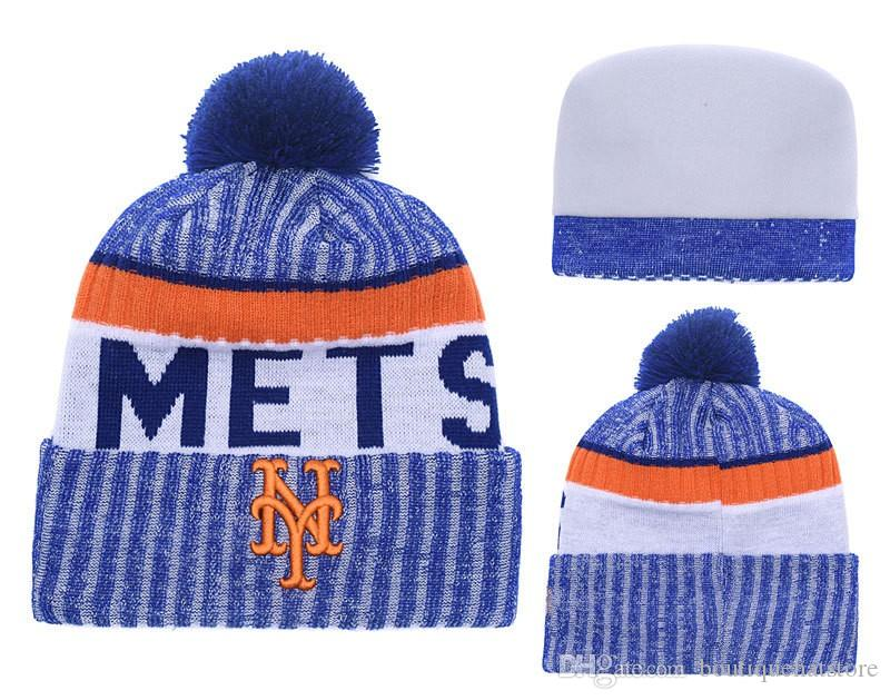 Acquista Nuovo Arrivo New York Berretti A Maglia Di Buona Qualità Mets  Inverno Caldo Cranio Cappelli Baseball Pom Ricamo Cuff Beanie Cap D A 0021  A  7.53 ... 11a331f44c5e